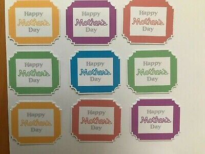 £2 • Buy Card Toppers X 9 Embellishments/toppers/card Making - Mothers Day