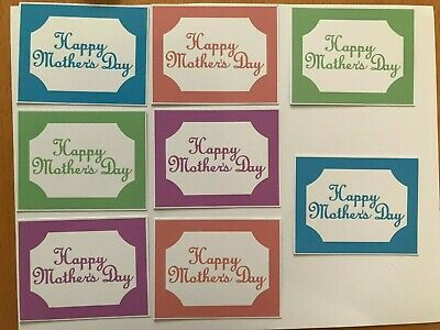 £2 • Buy Card Toppers X 8 Embellishments/toppers/card Making - Mothers Day