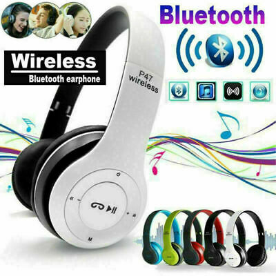 $ CDN16.47 • Buy Wireless Bluetooth Headphones Kids Foldable Headset P47 Over-Ear Stereo Earphone