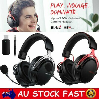 AU75.99 • Buy Mpow Air Wireless Gaming Headset Headphones W/ Detachable Noise Cancelling Mic