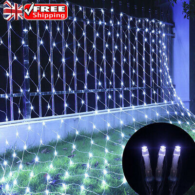 LED Net String Lights Curtain Mesh Fairy Light For Christmas Tree Indoor Outdoor • 14.99£