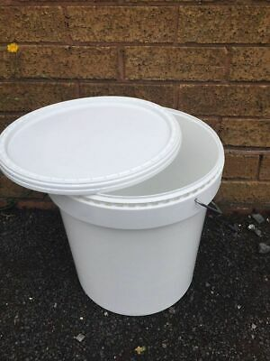 £45 • Buy 20 X 25L Buckets, Water Containers Food Grade White Inc Postage!
