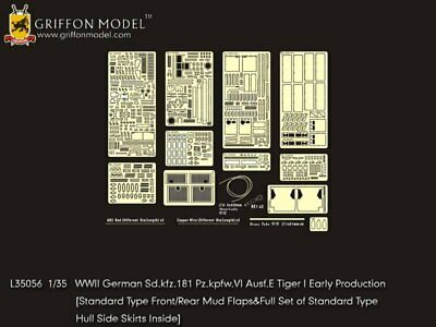 Griffon 1/35 #L35056 Tiger I Early Production Detail Up Set For Dragon • 35.73£