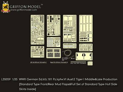 Griffon 1/35 #L35059 Tiger I Mid/Late Production Detail Up Set For Dragon • 35.71£