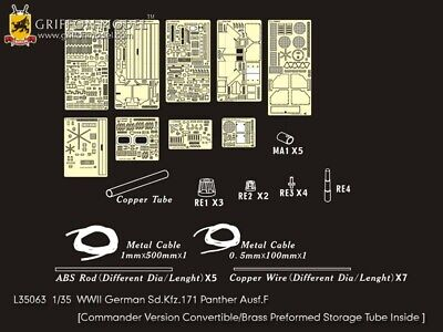 Griffon 1/35 #L35063 Panther Ausf.F Detail Up Set For Dragon 6403/6799 • 54.46£