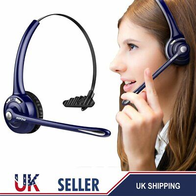 MPOW Wireless Headphones Bluetooth Headset Noise Cancel Clear Voice Skype Chat • 24.09£