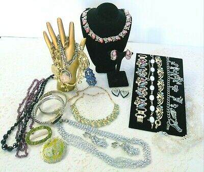 $ CDN157.79 • Buy Vintage Signed Rhinestone Jewelry Lot Sets Star Park Lane Lisner Sarah Cov + W12