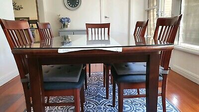 AU250 • Buy Australian Made Hardwood 6-8 Seater Dining Table And 6 Chairs