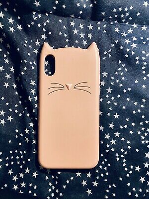 £7 • Buy Iphone X/XS Liquid Silicone Case Pink Cat Ears