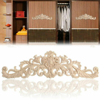 AU11.48 • Buy Unpainted Wood Oak Carved Corner Onlay Applique Furniture Moulding Craft Decor