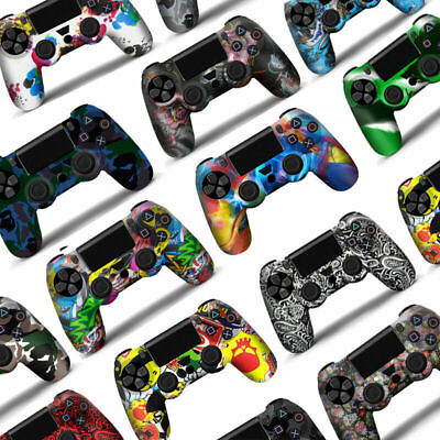 AU11.99 • Buy PS4 Playstation 4 Silicone Rubber Skin Graffiti Protective Controller Case Cover