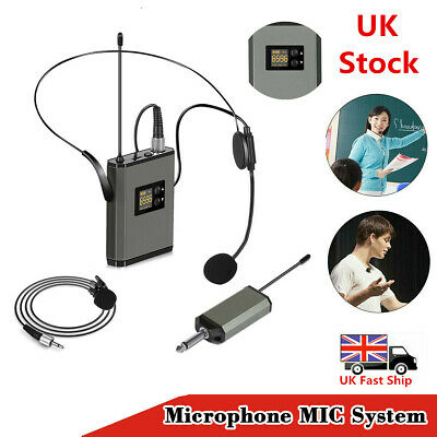 UHF Wireless Lavalier Headset Lapel Microphone MIC System Receiver Transmitter • 28.99£