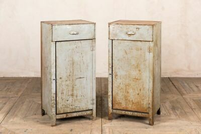 £210 • Buy One Tall Industrial Style Metal Bedside Cabinets Or Storage Cupboard