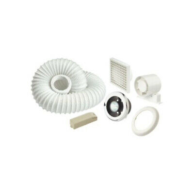 £35.99 • Buy Manrose Bathroom Extractor Fan With Light Kit 15W White Chrome With Timer