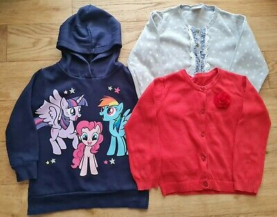 GIRL CARDIGANS AND HOODIE BUNDLE My Little Pony - Nutmeg Next H&m 4-5 YEARS  • 4.99£