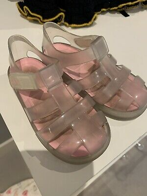 Igor Pink Clear Girls Toddler Jelly Shoes Size EU 24 • 0.99£