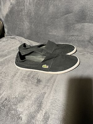 Lacoste Marice BL 2 CAM Mens Black Slip On Canvas Trainers Shoes Size Uk 10.5 • 19.99£