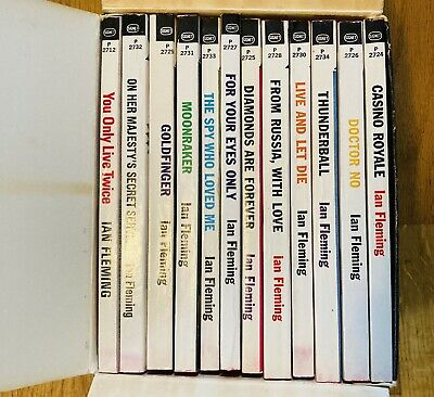 $224.95 • Buy Box Set 007 The Complete JAMES BOND 12 Intriguing PB's By Ian Fleming Unread