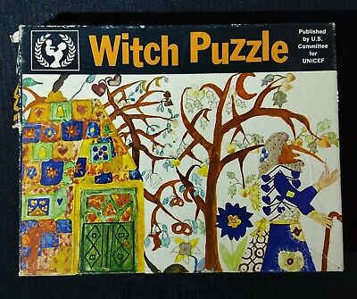 $ CDN60.84 • Buy U.S. Committee For UNICEF ~ 12x18 72 Piece Witch Puzzle ~ Complete And Very Rare