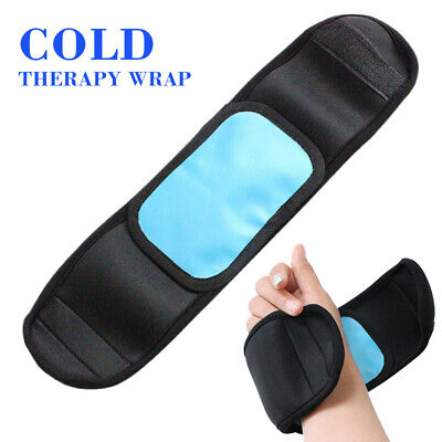 Gel Ice Pack Wrap Hot Cold Therapy Strap For Knee Leg Ankle Arch Pain Relief UK • 6.98£