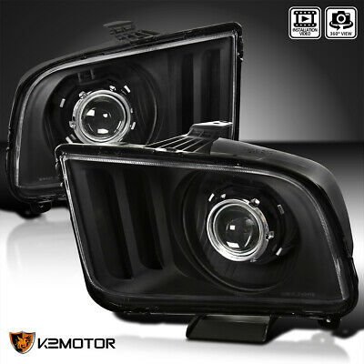 $148.38 • Buy Fits Black 2005-2009 Ford Mustang Retro Style Projector Headlights Head Lamps