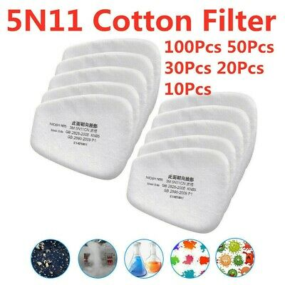 AU10.70 • Buy 50Pcs 5N11 Cotton Filter Safety Protect Replacement For 6200 6800 7502 New