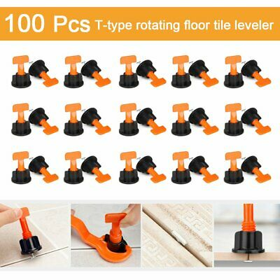 100PC Tile Leveling System Kits Leveler Tile Spacer Wall Floor Tool Construction • 2.20£