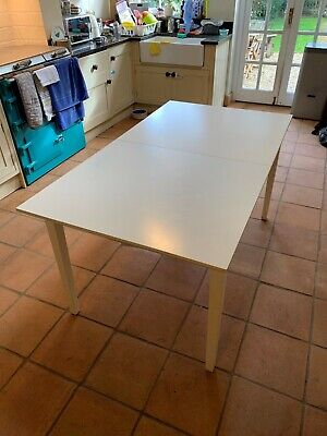 IKEA White Extendable Dining Table & 4 Matching Chairs • 0.99£