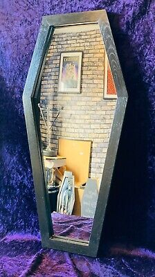 £49.99 • Buy Ornate Gothic Coffin Shaped Mirror - Handmade, Reclaimed Wood