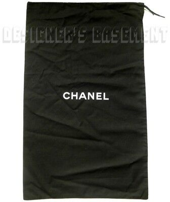 CHANEL Large Black Dust Bag String Tie 14.5 X 23  For Boots Or Handbag NEW Auth • 32.18£