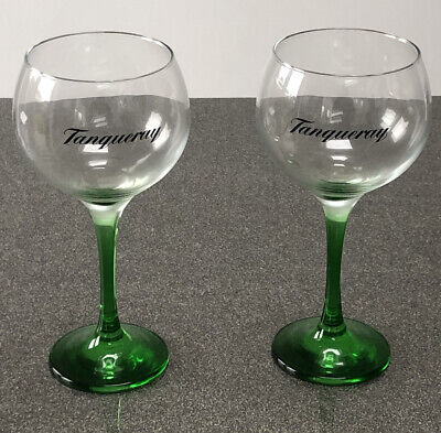 Tanqueray Gin Glasses X 2 - Green Stem - Brand New • 12.90£