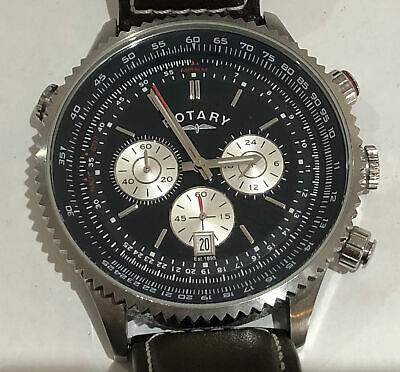Rotary Quartz Chronograph Watch With 24hr Dial • 50£