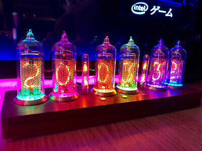 RARE Nixie Clock RGB 17 Modes Fully Assembled Ready - IN-14 Clock With Remote • 220£