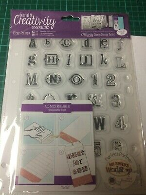 Docrafts Urban / Grunge Alphabet  & Numbers Stamps With Storage Pocket BNIP • 6£