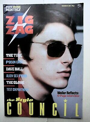 £19 • Buy Zigzag Magazine, March 1984, Paul Weller Style Council