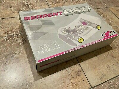 Vintage 1/8 Scale The SERPENT 950 4WD R/C On-Road Competition Car Kit     • 788.56£