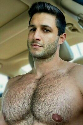 $ CDN5.06 • Buy Shirtless Male Beefcake Muscular Huge Hairy Pecs Chest Car Hunk PHOTO 4X6 G1917