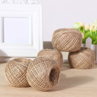 100m Long Jute Rope Natural Linen Twine Rustic String Rope For Scrapbooking Sale • 4.55£