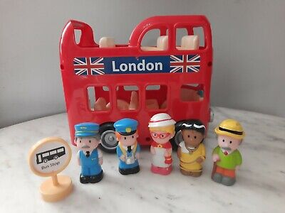 £15.50 • Buy ELC Happyland London Bus, Bus Stop Sign And 5 Figures With Working Sounds VGC