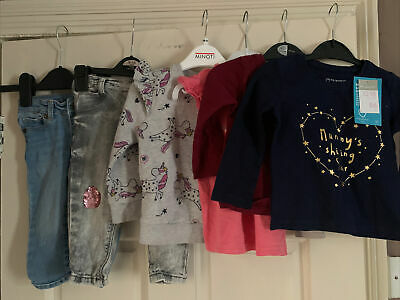 Primark Baby Girl 6 Piece Clothes Bundle Age 12-18 Months Good Used Condition • 3£