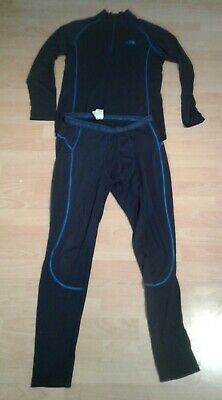 THE NORTH FACE Warm Base Layer, L/S Zip Neck Top And Leggings, Size Large • 24.95£