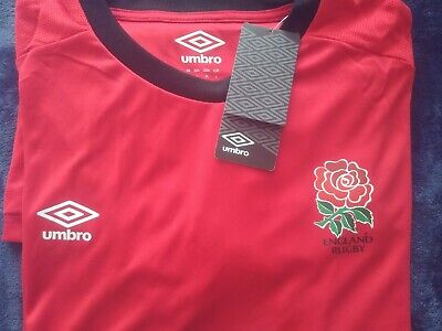 Umbro Training Top Shirt TShirt Red/Black England Rugby Union  Large Adults BNWT • 14.99£