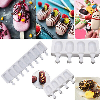 Silicone Ice Cream Mould Popsicle Lolly Frozen Dessert Maker Cakesicles Tray • 4.99£