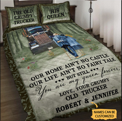 Personalized Trucker My Queen Forever Bedding Set  • 45.58£
