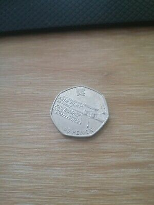 OLYMPIC 50P COIN - 2011 ROWING EXCELLENCE - London Olympics 50 Pence - COIN HUNT • 1£
