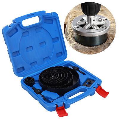 £15.30 • Buy 19HOLE SAW KIT SET 19-152mm HEAVY METAL CIRCLE CUTTER ROUND DRILL WOOD DOWNLIGHT