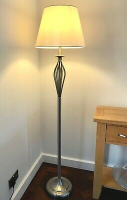 Dar Lovely Modern  Brushed Chrome Floor Lamp Standard Light Working Foot Switch • 45£