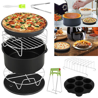 AU29.99 • Buy 10PC/Set Air Fryer Accessories 8  Rack Cake Pizza Oven Barbecue Frying Pan Tray