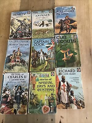 Collection Of 9 Vintage Ladybird Books 1950s/60s/70s • 7.99£