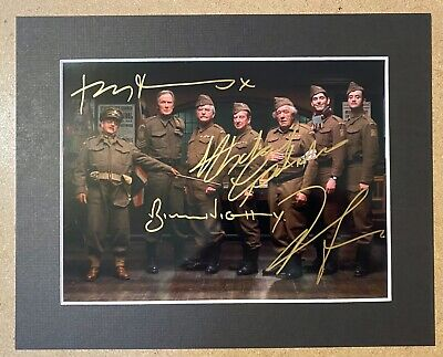 £34.99 • Buy Dads Army Toby Jones Bill Nighy Michael Gambon Signed Photo - Mounted